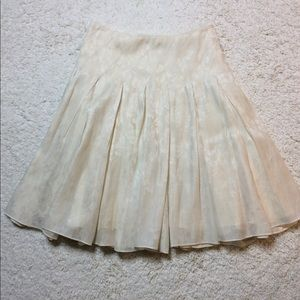 BEAUTIFUL OFF WHITE SILK AND COTTON SKIRT